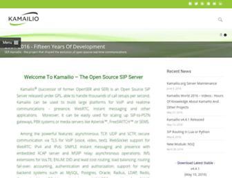Thumbshot of Kamailio.org