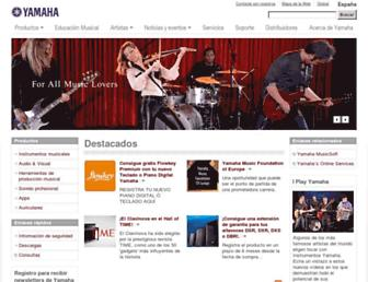es.yamaha.com screenshot