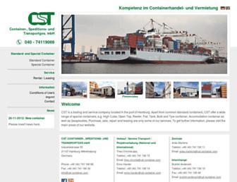 cst-container.com screenshot
