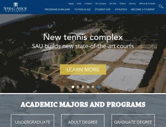 Main page screenshot of arbor.edu