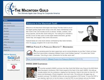 Main page screenshot of macguild.org