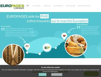 Main page screenshot of corporate.europages.fr