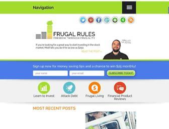 Thumbshot of Frugalrules.com