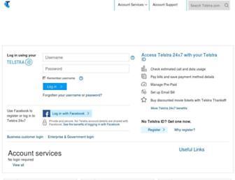my.telstra.com.au screenshot