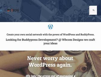 wbcomdesigns.com screenshot