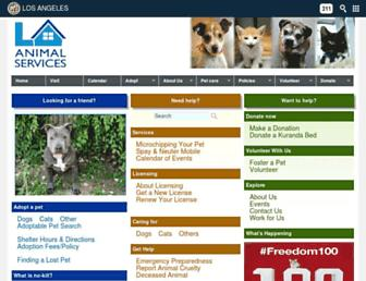 Thumbshot of Laanimalservices.com