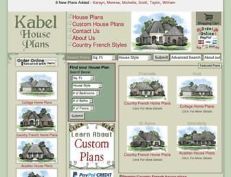 kabelhouseplans.com screenshot
