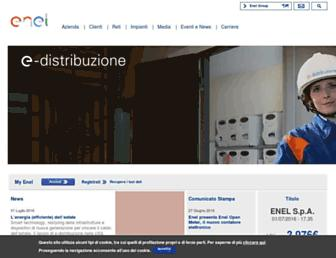 Main page screenshot of enel.it