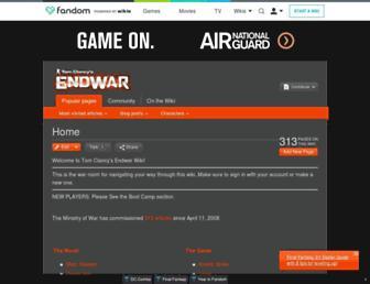 endwar.wikia.com screenshot