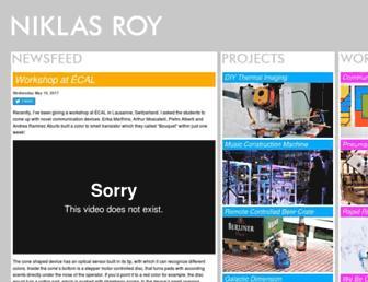 niklasroy.com screenshot