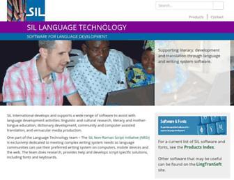 software.sil.org screenshot