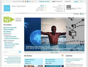 Main page screenshot of vdb.org
