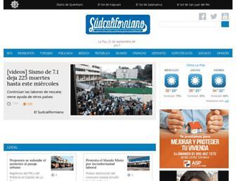 elsudcaliforniano.com.mx screenshot