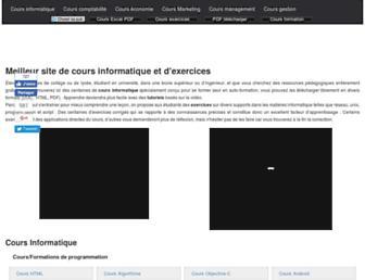 cours-gratuit.com screenshot