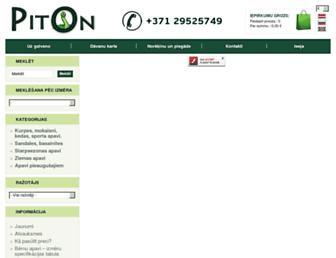 Main page screenshot of piton.lv