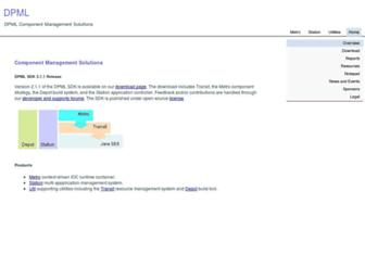 Main page screenshot of dpml.net