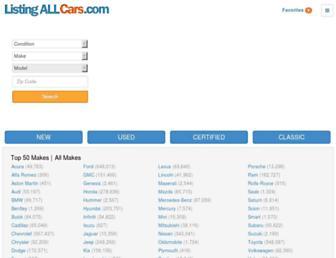listingallcars.com screenshot