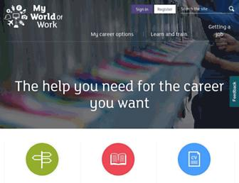 myworldofwork.co.uk screenshot