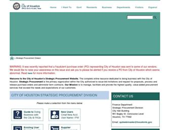 purchasing.houstontx.gov screenshot