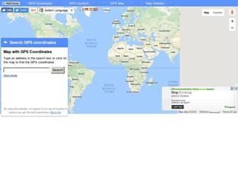 map-gps-coordinates.com screenshot