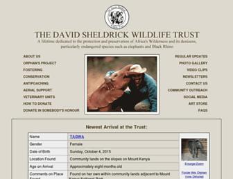 sheldrickwildlifetrust.org screenshot