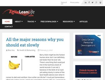 agileleanlife.com screenshot