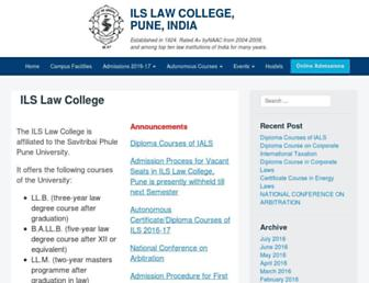 ilslaw.edu screenshot