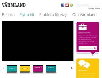 Main page screenshot of varmland.se