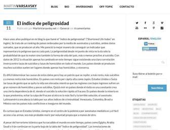Main page screenshot of spanish.martinvarsavsky.net