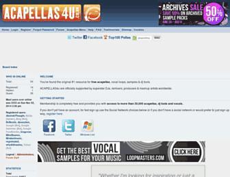 acapellas4u.co.uk screenshot