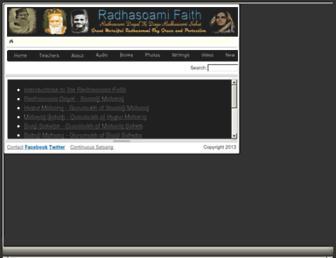 radhasoamifaith.org screenshot