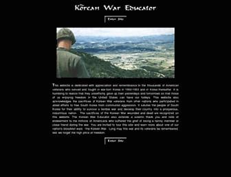 Main page screenshot of koreanwar-educator.org