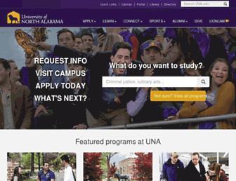 una.edu screenshot