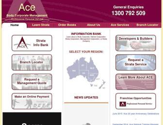 acebodycorp.com.au screenshot
