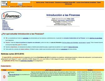 Main page screenshot of ciberconta.unizar.es