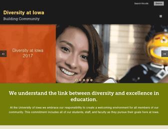Main page screenshot of diversity.uiowa.edu