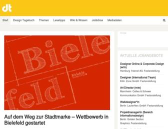 Main page screenshot of designtagebuch.de