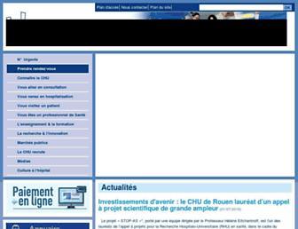 chu-rouen.fr screenshot