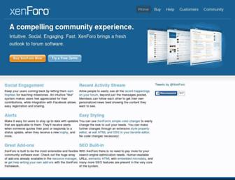 xenforo.com screenshot