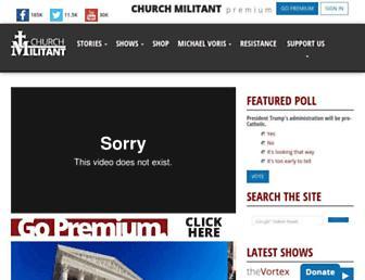 churchmilitant.com screenshot