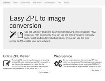 labelary.com screenshot
