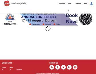 Thumbshot of Mediaupdate.co.za