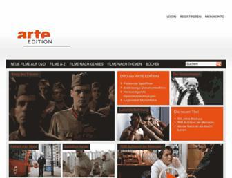 Main page screenshot of arte-edition.de