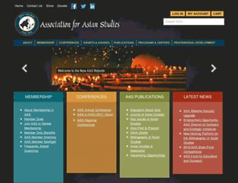 Main page screenshot of asian-studies.org