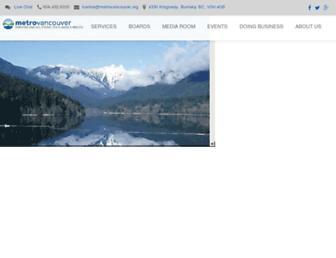 metrovancouver.org screenshot