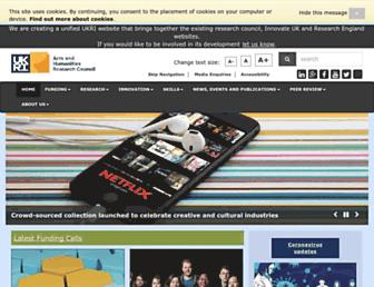 ahrc.ukri.org screenshot
