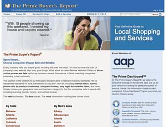 Main page screenshot of primebuyersreport.org