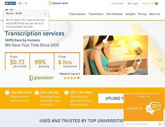 gotranscript.com screenshot