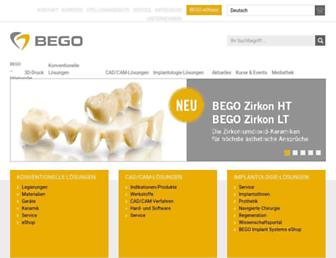 bego.com screenshot