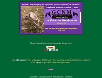 Main page screenshot of gcnm.org